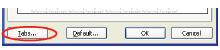 Dialog box paragraph tombol tabs.