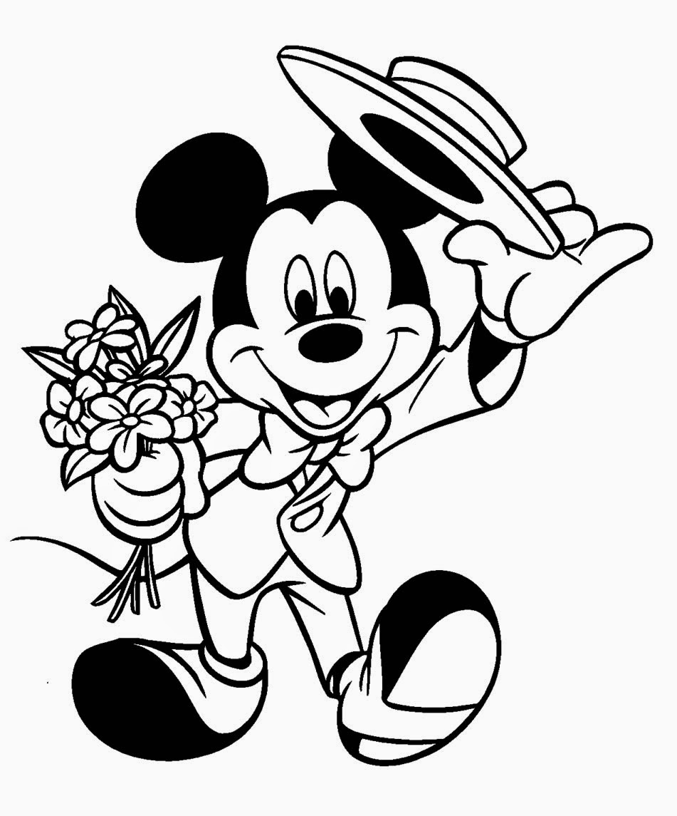 Mickey Mouse for Coloring, part 1
