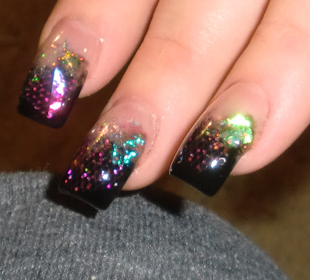 love4nailart cosmic acrylic nails