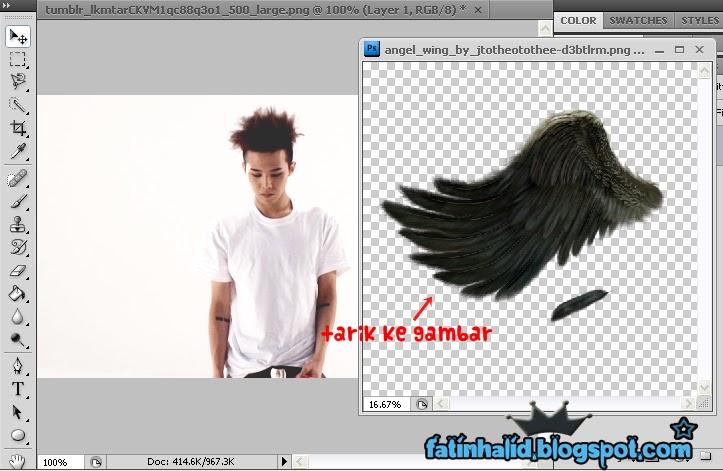gambar sayap tu masuk ke dalam gambar GD tadi . Sorry sayap tu besar