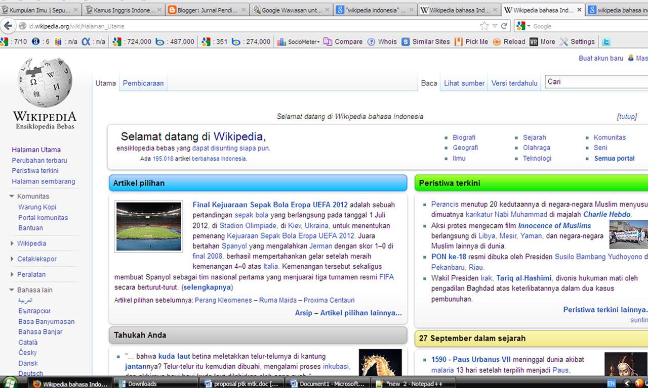tampilan wikipedia bahasa indonesia wawasan seputar wikipedia bahasa ...