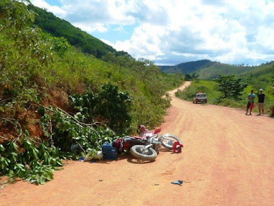 Acidente após festa de Santo Inácio em Gentio do Ouro tira a vida de motociclista