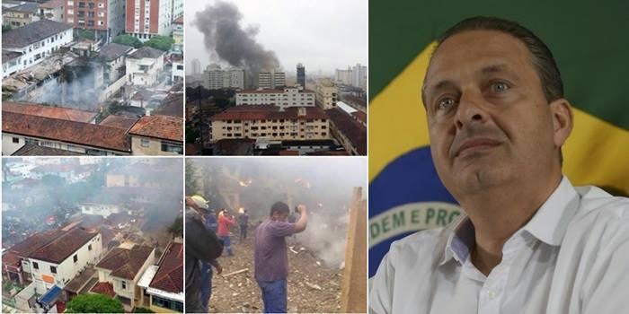 PF descarta motivação criminosa em queda de avião de Campos