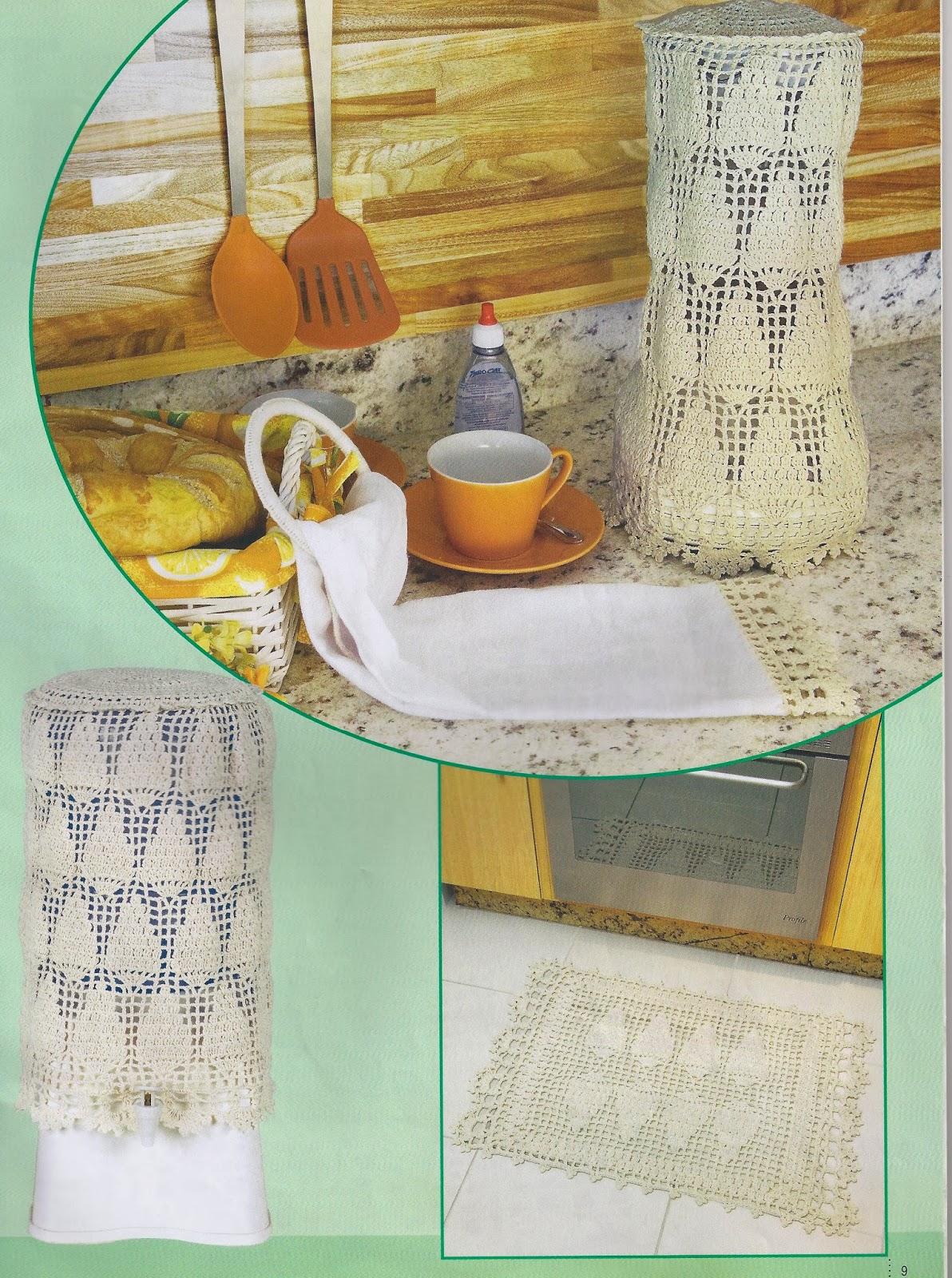 Luci Artes: Lindo Conjunto de Cozinha em Crochê com Gráficos