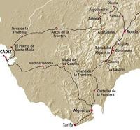 mapa ruta de almohades y almoravides
