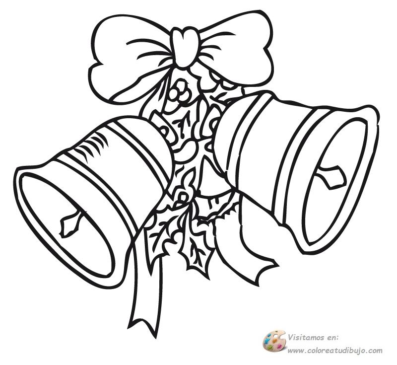 COLOREA TUS DIBUJOS: Adorno de campana para imprimir , colorear y pintar