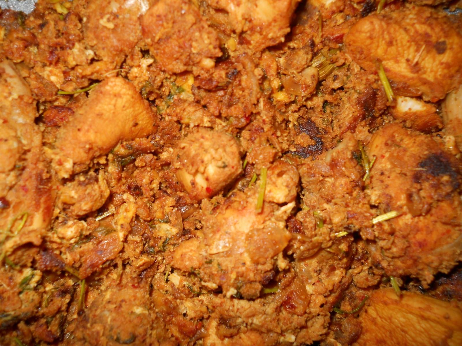 Bhashnas Andhra kitchen: Spicy Chicken fry in coconut milk