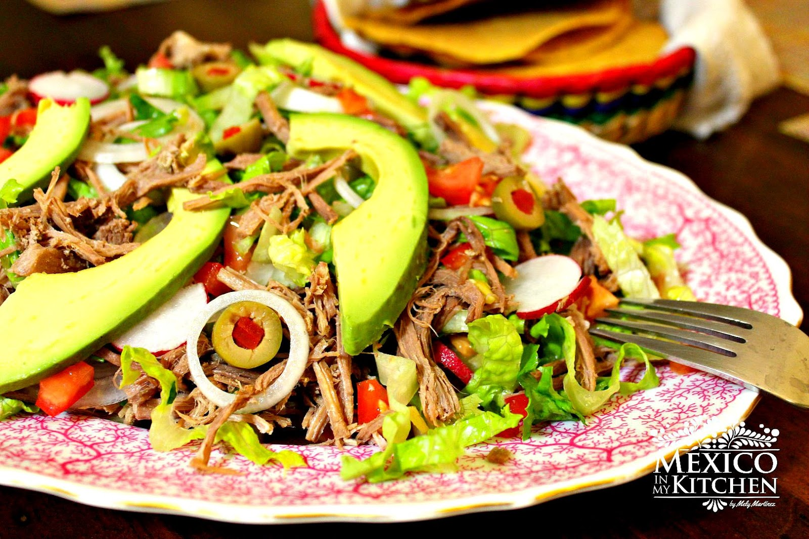 Mexico in My Kitchen: Salpicon, Shredded Beef Mexican Salad |Authentic ...