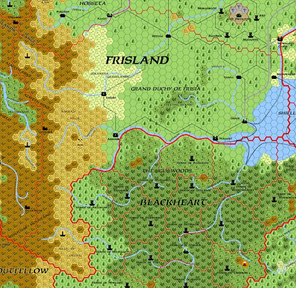 Mystara Alphatia Frisland Hex Map