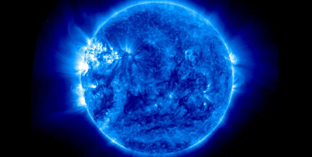 This image of the sun was taken on July 15, 2015, with the Extreme Ultraviolet Imager onboard NASA's Solar TErrestrial RElations Observatory Ahead (STEREO-A) spacecraft, which collects images in several wavelengths of light that are invisible to the human eye. Image Credit: NASA/STEREO