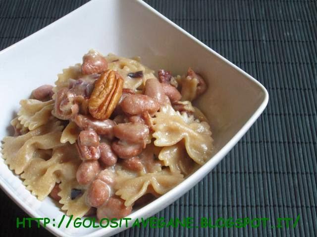 aglio, fagioli, fagioli rossi, farina semi integrale, pasta fresca, peperoncino, pomodori, Primi, ricette vegan, tacconelle,