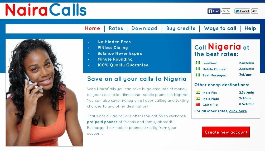 NairaCalls llamadas baratas a moviles españoles