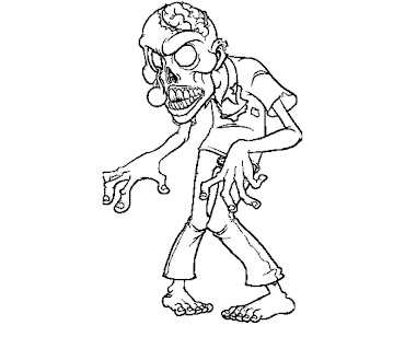 #5 Zombie Coloring Page