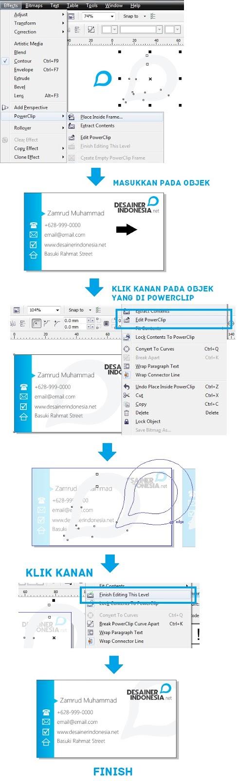 Cara Membuat Kartu Nama Dengan CorelDRAW ~ Multimedia Design