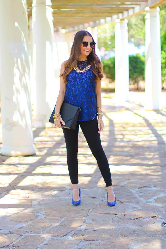 cobalt blue, royal blue, blue pumps, lace