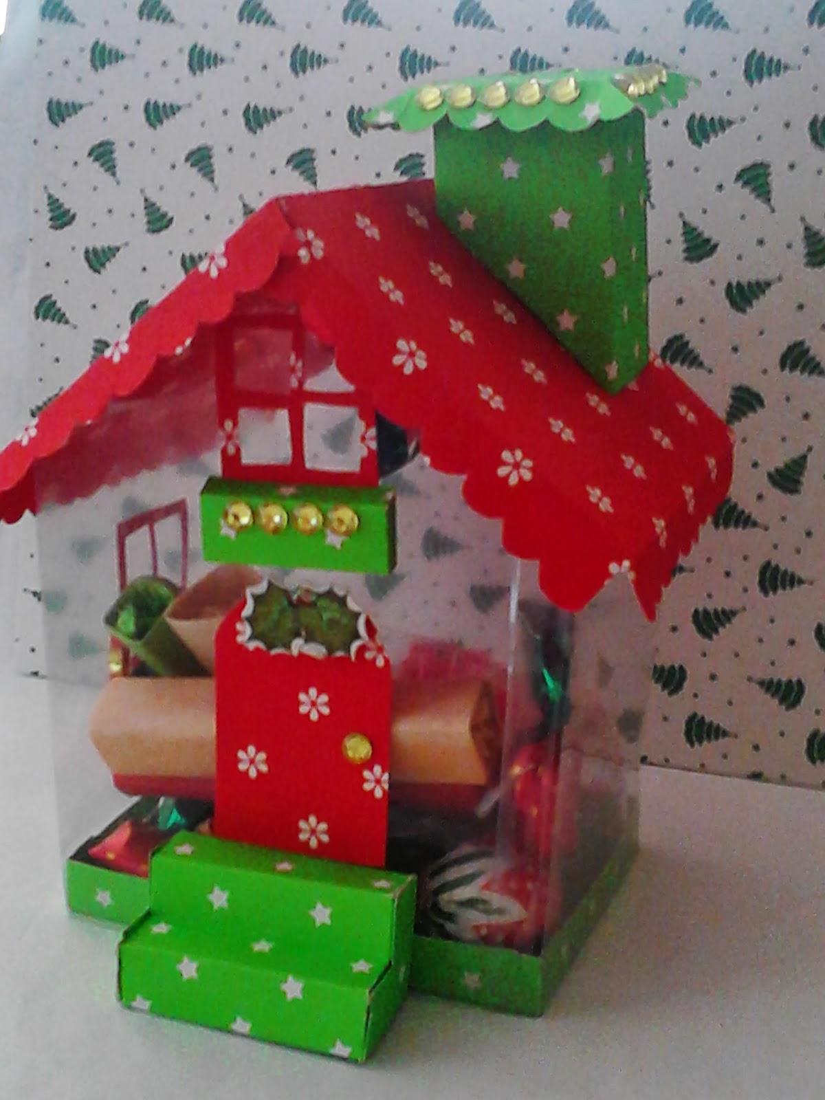 Thalescrapbook reto 4 una casita en navidad vida - Casitas de navidad ...
