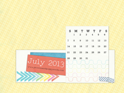 July 2013 desktop calendar sample