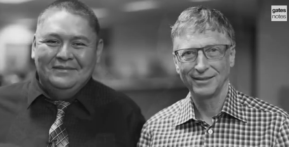 image of Shawn Lee and Bill Gates