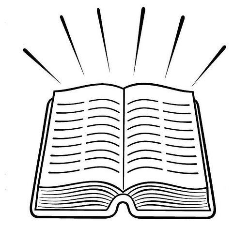 Dibujo para colorear de una biblia  Imagui