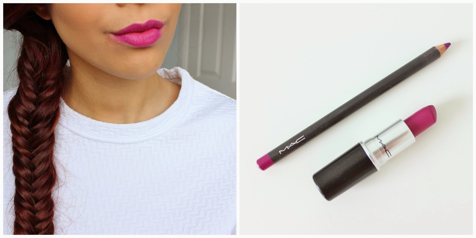 mac flat out fabulous and magenta lip liner
