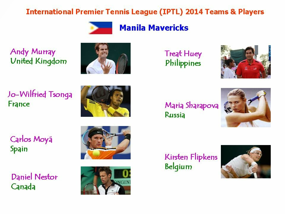 International Premier Tennis League IPTL 2014 Teams & Players