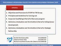Revised Procurement Operational Policies for Vendor Development Programme (VDP)