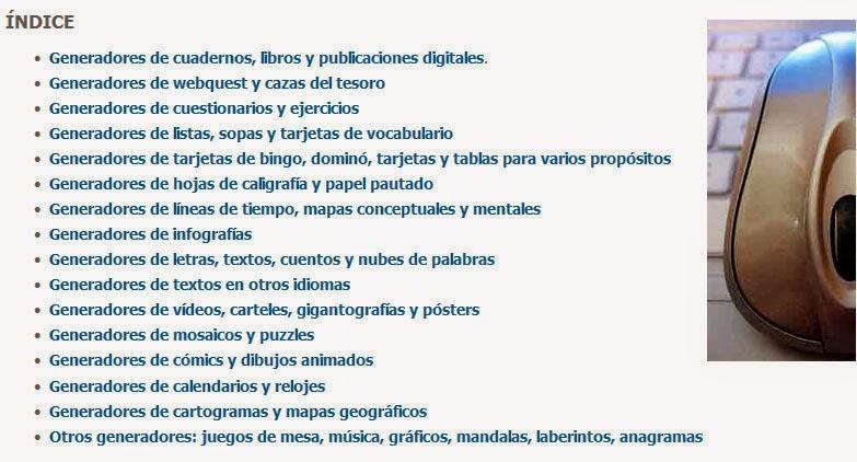 La Huella Digital Educa: Generadores online de material educativo