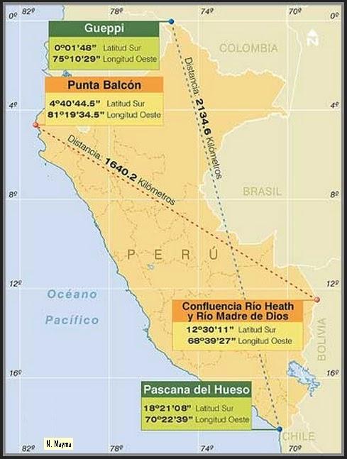 El Baúl de la Geografía (Perú y Mundo): PUNTOS EXTREMOS DEL PERU