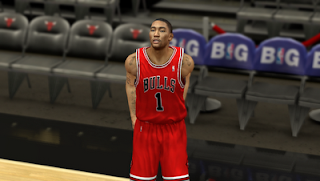 NBA 2K13 Chicago Bulls Road Jersey (Away) Patch