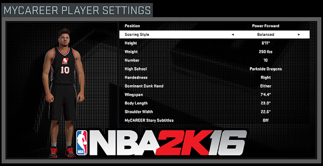 NBA 2K16 Caps MyPlayer