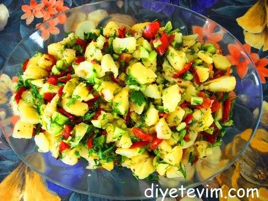 diyet patates salatası