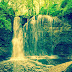Unseen Waterfall in Forest Wallpaper