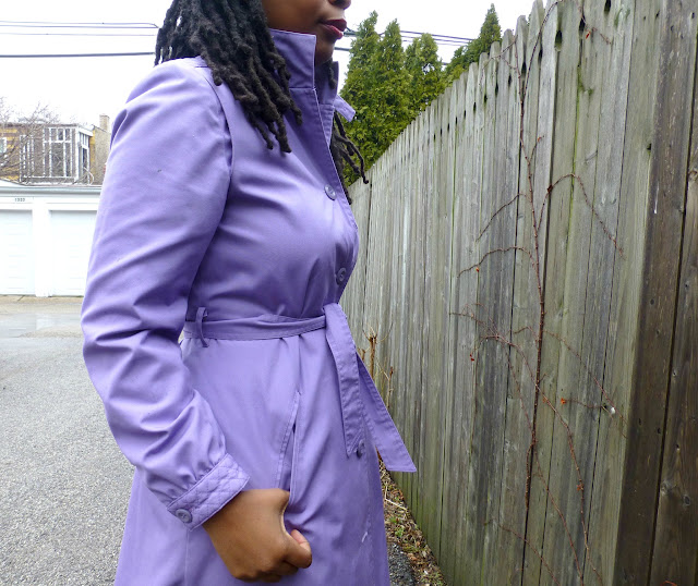 Spring trench coat lilac purple