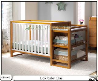Tempat tidur balita box baby clas