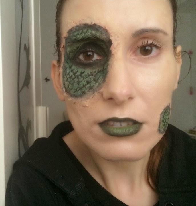 Maquillaje de Halloween de Reptil