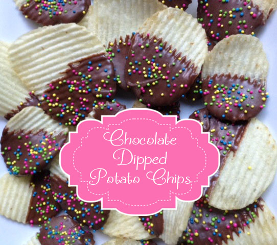The Moody Fashionista: Chocolate Dipped Potato Chips