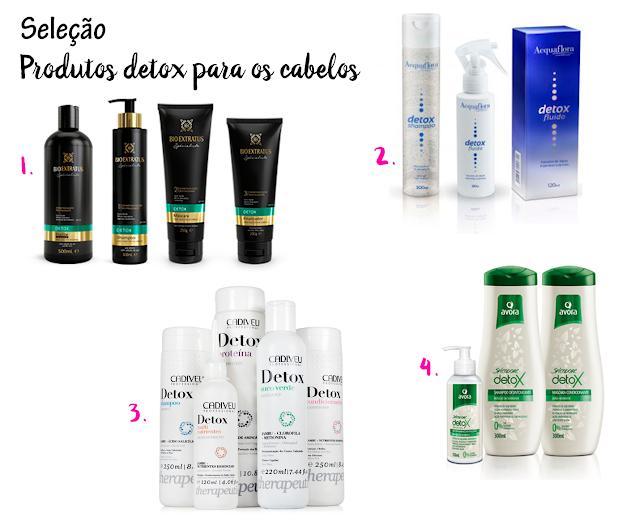 Seleção, capilar, produtos, detox, cabelos