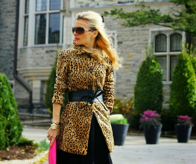 animal leopard print michael kors watch bow belt