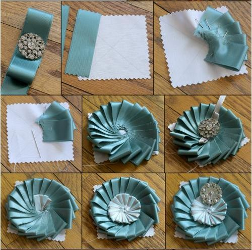 Artes de todos flor de cetim com pap for Handmade things step by step