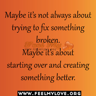 Maybe it's not always about trying to fix