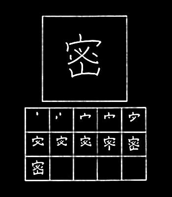 kanji tertutup