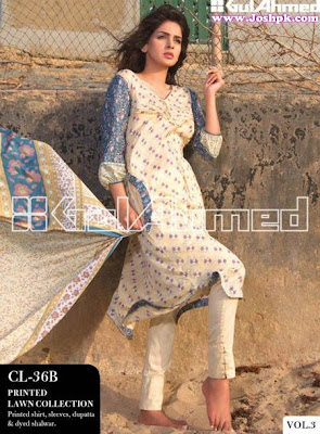 Printed Gul Ahmad Lawn Dresses Collection Vol-3 For Ladies