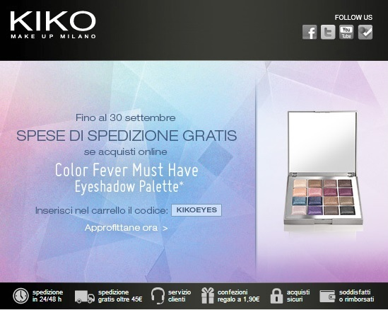 KIKO - Spedizione gratis con Color Fever Must Have Eyeshadow Palette