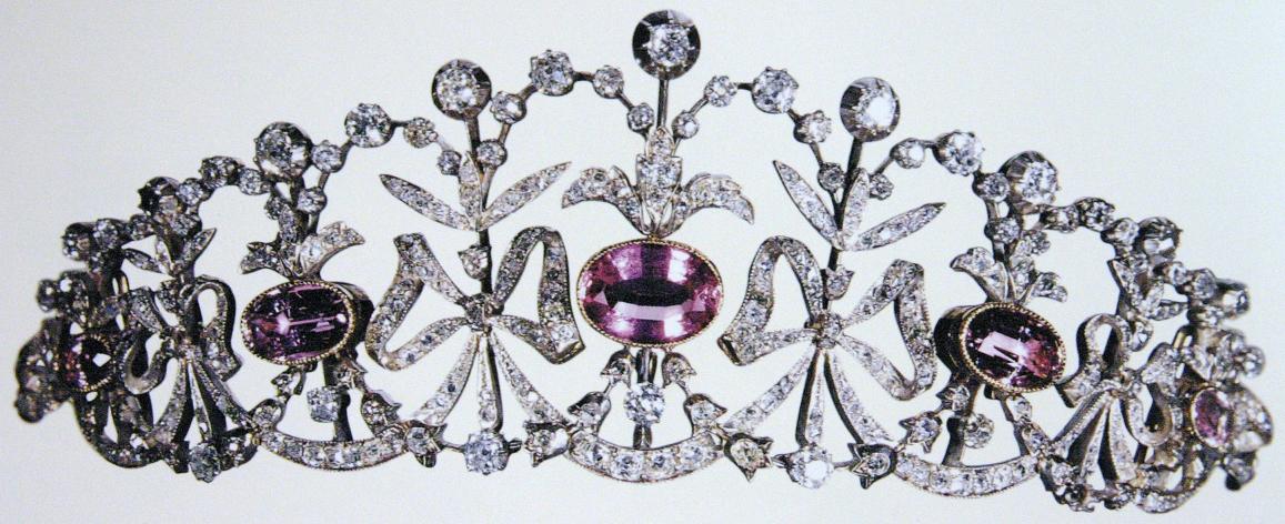 تيجان ملكية  امبراطورية فاخرة Diamond+pink+topaz+tiara+crown+diadem+bow