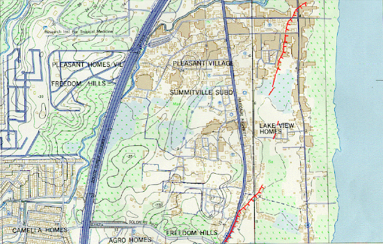 Marikina Fault Line Map - Alabang (Muntinlupa)