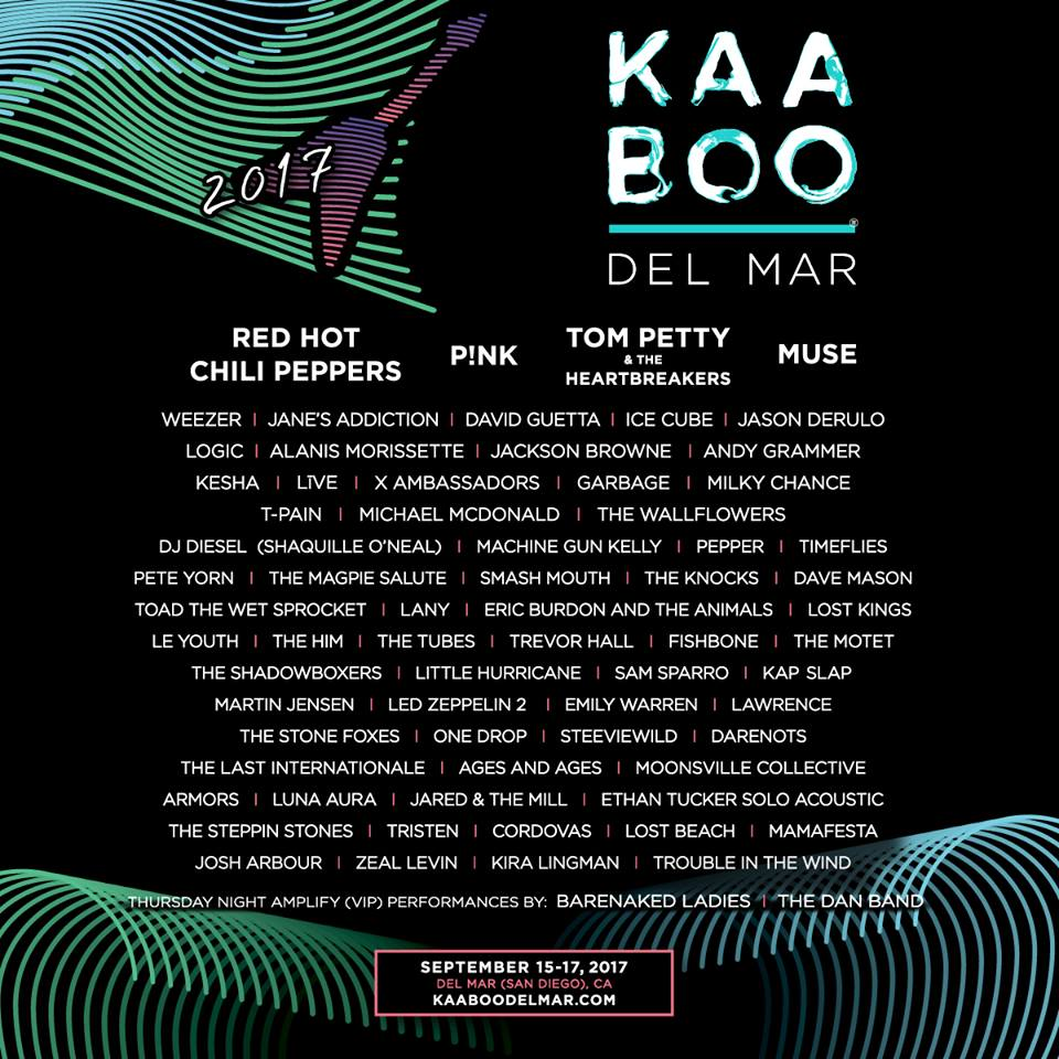 Dont Miss KAABOO Del Mar 2017 - September 15-17