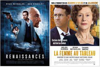 Ryan Reynolds en ce moment au cinéma  dans La femme au tableau et Renaissances !
