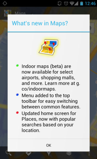 Google Maps 6.0 for Android