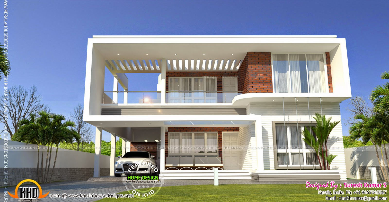 Contemporary home with isometric plan