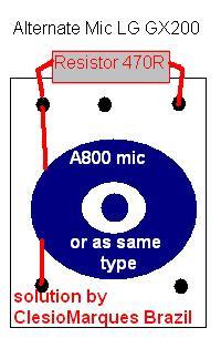 Lg gx200 mic Problem solution